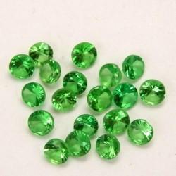 Tsavorite calibrée 2.5mm