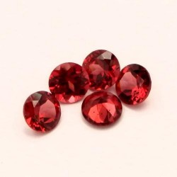 Lot grenats rhodolites 5mm