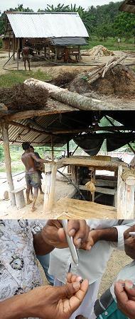 Mine au Sri Lanka
